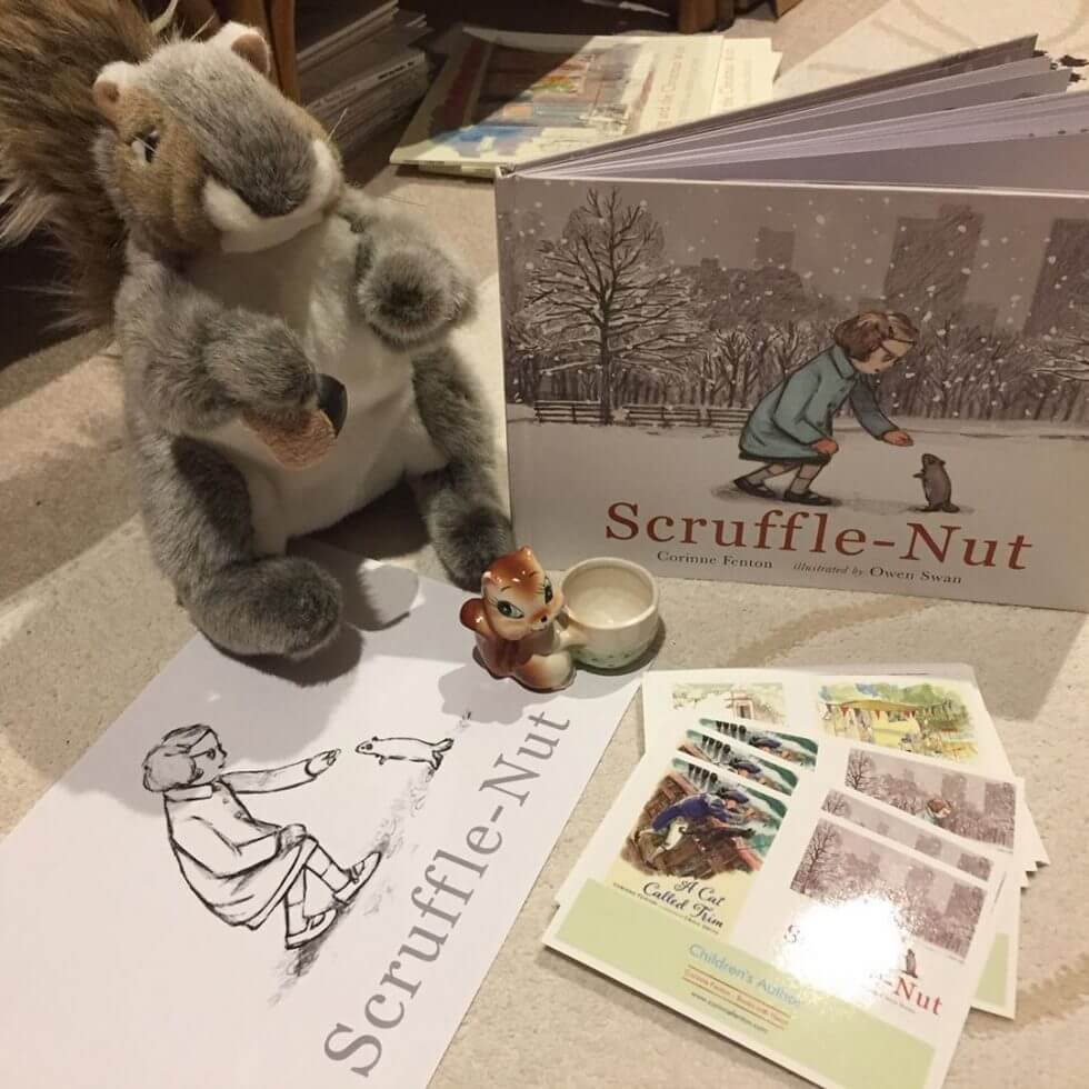 Storytime for Scruffle-Nut 26 September at The Little Bookroom, Carlton North and Launch on 5 October, Nomad Books, 781 Fulham Road, London.